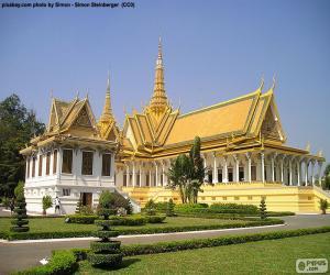 Puzzle La salle du trône, Cambodge