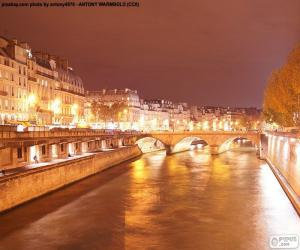 Puzzle La Seine dans la nuit, Paris