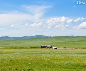 Puzzle La steppe de la Mongolie
