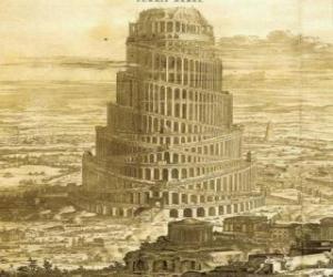 Puzzle La Tour de Babel que souhaitaient construire les hommes pour atteindre le ciel