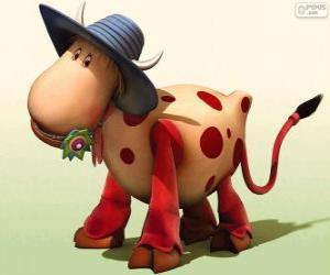 Puzzle La vache Azalée, l'un des personnages de Le Manège enchanté