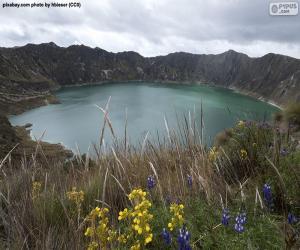 Puzzle Lac de cratère du Quilotoa, Équateur