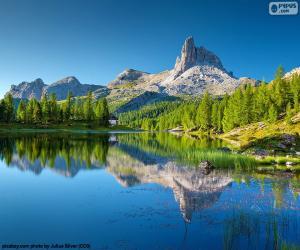Puzzle Lac Federa, Italie