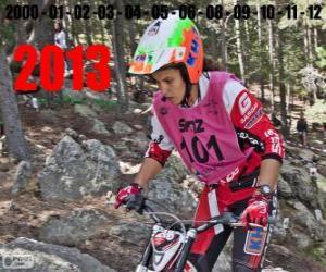 Puzzle Laia Sanz, le champion du monde du trial 2013