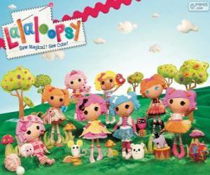 Puzzle Lalaloopsy, les poupées de chiffon
