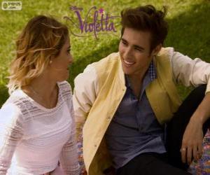 Puzzle L'amour de Violetta et Leon, Violetta 3