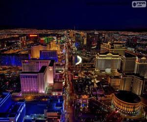 Puzzle Las Vegas la nuit, États-Unis