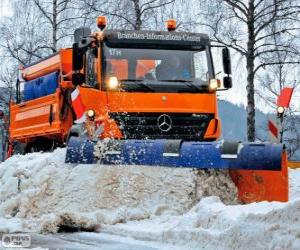 Puzzle Le camion chasse-neige