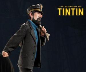 Puzzle Le capitaine Archibald Haddock est le meilleur ami de Tintin