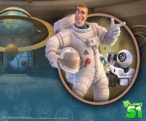 Puzzle Le capitaine Charles Chuck Baker, avec son robot Rover