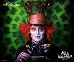 Puzzle Le chapelier fou (Johnny Depp), un personnage qui aide Alice