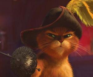 Puzzle Le Chat élégant avec une épée