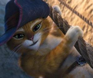 Puzzle Le Chat Potté dans l'un de ses aventures