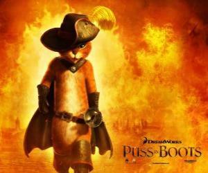 Puzzle Le Chat Potté, le protagoniste du nouveau film de DreamWorks