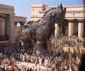 Puzzle Le cheval de Troie, un gigantesque cheval creux de bois