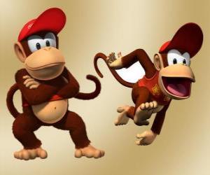 Puzzle Le chimpanzé Diddy Kong, personnage dans le jeu vidéo Donkey Kong
