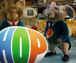 Puzzle Le courant de Lapin de Pâques et le père de l'EB. Hop, le film