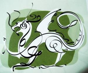 Puzzle Le dragon, le signe du Dragon, l'Année du Dragon. Cinquième animal du zodiaque chinois