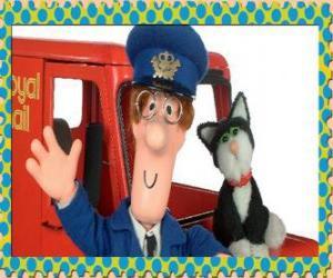 Puzzle Le facteur Patrick Clifton, Postman Pat avec Jess le chat