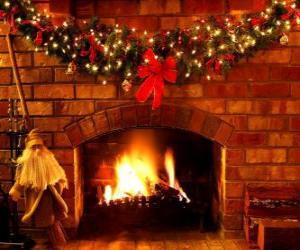 Puzzle Le feu allumé la veille de Noël