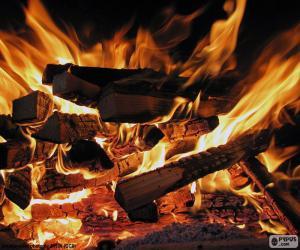 Puzzle Le feu dans la cheminée