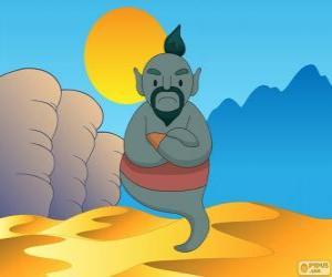 Puzzle Le génie de la lampe qui aide Aladdin
