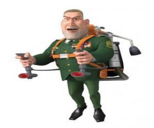 Puzzle Le Général W. R. Monger faisant le salut militaire