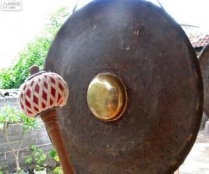 Puzzle Le gong, instrument de percussion