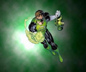 Puzzle Le Green Lantern, le super-héros a un anneau de pouvoir qui est l'une des armes les plus puissantes de l'univers