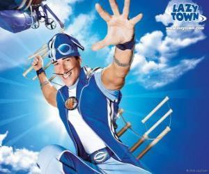Puzzle Le héros de LazyTown, Sportacus, l'athlète saine