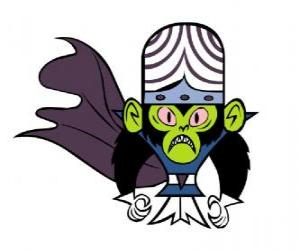Puzzle Le intelligent singe Mojo Jojo est le plus grand ennemi des sœurs Utonium, les Powerpuff Girls