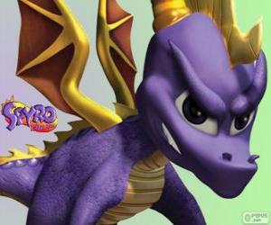 Puzzle Le jeune dragon Spyro, principal protagoniste des jeux vidéo Spyro the Dragon