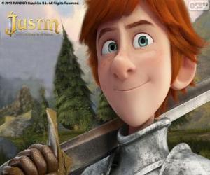 Puzzle Le jeune Justin veut devenir un chevalier