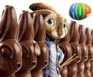 Puzzle Le lapin EB doit succéder à son père comme le lapin de Pâques. Hop, le film