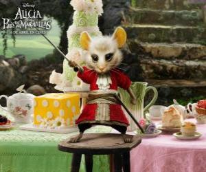 Puzzle Le Liron, une souris qui porte une culotte de cheval.
