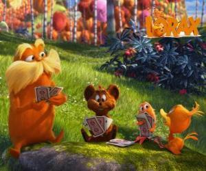 Puzzle Le Lorax jouant avec des animaux de la vallée de Trufula
