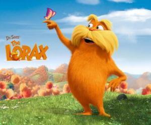 Puzzle Le Lorax, le géant à poil est le gardien de la forêt qui parle avec les arbres