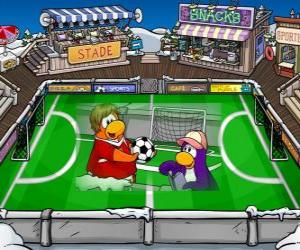 Puzzle Le match de football Club Penguin