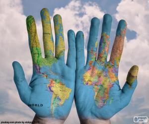 Puzzle Le monde dans nos mains