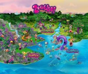 Puzzle Le monde de la Zoobles