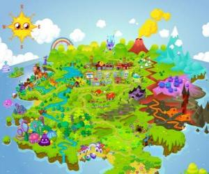 Puzzle Le monde de Moshi Monsters
