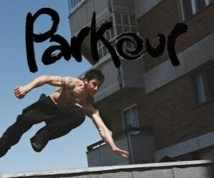 Puzzle Le Parkour est une discipline ou une philosophie est de se déplacer d'un point à un autre aussi bien que possible