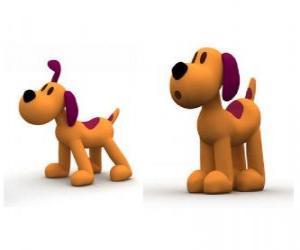 Puzzle Le petit chien Loula est la mascotte de Pocoyo