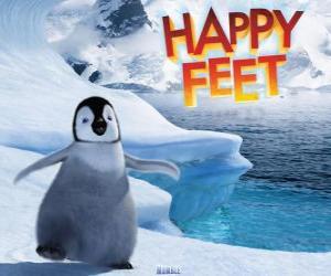 Puzzle Le petit manchot empereur, protagoniste de Happy Feet