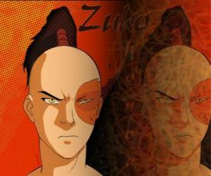 Puzzle Le Prince Zuko est exilé de la Nation du Feu et veut saisir l'avatar Aang pour rétablir son honneur