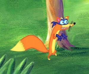 Puzzle Le renard Swiper est toujours essayer de voler quelque chose Dora