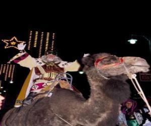 Puzzle Le roi Melchior monté sur son chameau