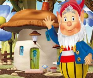 Puzzle Le sage Potiron, un lutin barbu qui vit dans une maison champignon