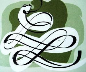 Puzzle Le serpent, le signe du Serpent, année du serpent. Le sixième des signes horoscope chinois