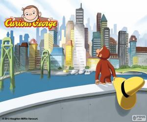 Puzzle Le singe Georges et la ville